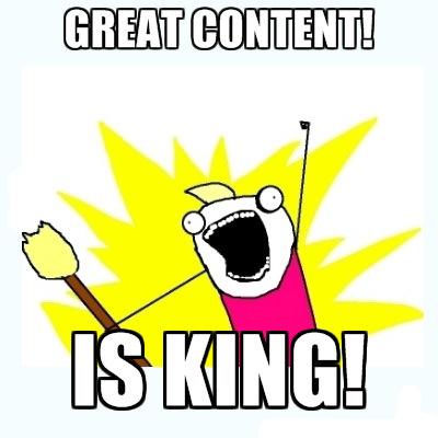 Content King SEO Meme