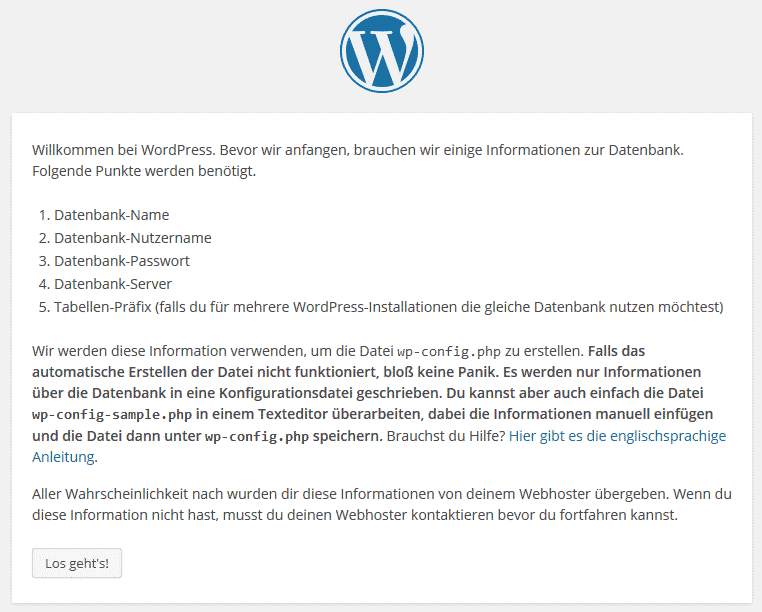 WordPress Install Assistent